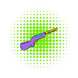 Hunting shotgun icon, comics style Royalty Free Stock Photo