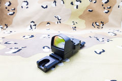 Hunting sight. Reflex sight for hunting and Military tasks Stock Photo
