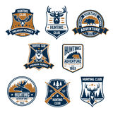 Hunting sport club icons and emblems Stock Photo