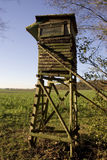 Hunting stand. A hunting stand in the autumn Royalty Free Stock Photos