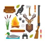 Hunting symbols vector set. Stock Photo