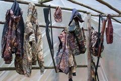 Hunting tent stock photos