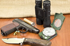 Hunting tools Royalty Free Stock Photography
