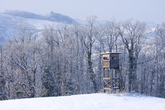 Hunting tower. Hunting deer and wildboar tower Stock Images