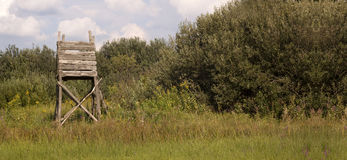 Hunting tower banner Stock Photography