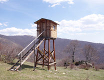 Hunting tower in mountain Sredna gora, Bulgaria Royalty Free Stock Image