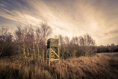 Hunting tower in rough nature Stock Photos