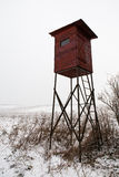 Hunting tower in winter country Stock Photography