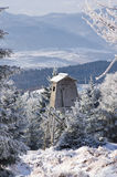 Hunting tower during the winter Royalty Free Stock Photo