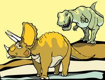 Hunting the Triceratops Royalty Free Stock Photo