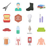 Hunting, triumph, eating and other web icon in cartoon style.Lard, man, education icons in set collection. Royalty Free Stock Image