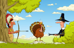Hunting for turkey stock illustration