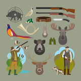 Hunting vector elements Royalty Free Stock Photography