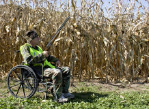 Hunting from a wheelchair Stock Photos