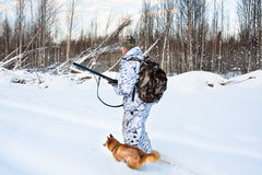 Hunting in winter Royalty Free Stock Photo