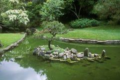 Huntington arkiv och trädgårdar, japanska trädgårdar, Pasadena, CA Arkivfoton