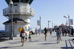 Huntington Beach 4-ое торжества в июле стоковые изображения rf
