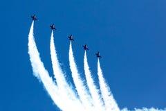 Huntington Beach 2017 Airshow - голубые ангелы стоковое фото