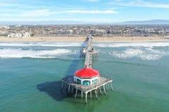Huntington Beach, CA, pilastro immagini stock