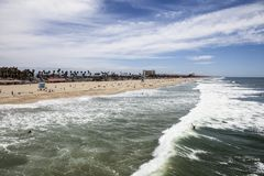 Huntington Beach Califórnia Fotografia de Stock Royalty Free