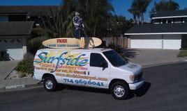 Huntington Beach di pulizia del tappeto Fotografie Stock