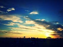 Huntington Beach en la oscuridad fotos de archivo