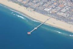 Huntington Beach från över Arkivbilder