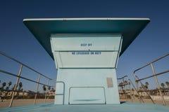 Huntington beach lifeguard tower Stock Photography