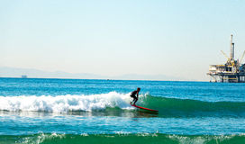Huntington Beach ocean sky surf surfing Royalty Free Stock Image