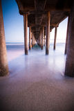 Huntington Beach Peir. Huntington Beach CA. Taken at sunset Stock Photo