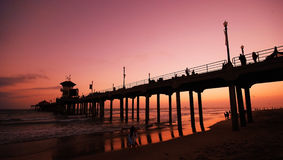 Huntington beach pier Royalty Free Stock Photo