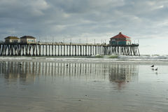 Huntington Beach Pier Afternoon Reflections Royalty Free Stock Photo