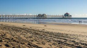 Huntington Beach Pier HDR Royalty Free Stock Photography