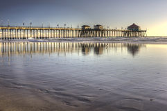 Huntington Beach Pier HDR Royalty Free Stock Images