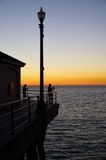Huntington Beach Pier sunset Royalty Free Stock Photo