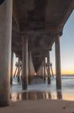 Huntington Beach pier at sunset Stock Images