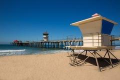 Free Huntington Beach Pier Surf City USA With Lifeguard Tower Stock Image - 33847641