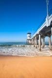 Huntington Beach pir Fotografering för Bildbyråer