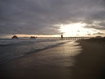Huntington Beach Sunset Royalty Free Stock Images