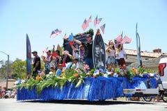 Huntington Beach 4th Juli ståtar Arkivfoto