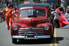 Huntington Beach 4to del desfile de julio, California, los E.E.U.U. foto de archivo