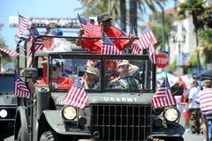 Huntington Beach 4to del desfile de julio, California, los E.E.U.U. imagenes de archivo