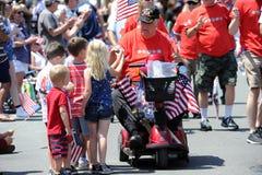Huntington Beach 4to del desfile de julio, California, los E.E.U.U. imagen de archivo libre de regalías