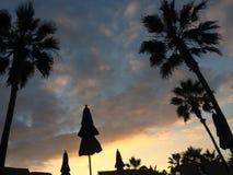 Huntington Beachzonsondergang Royalty-vrije Stock Foto