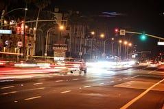 Huntington-Bohne nachts Stockfotos