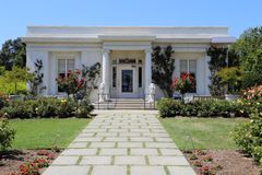 Huntington-Garten-Tee-Haus außen nahe Pasadena, CA, USA lizenzfreies stockbild