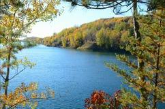 Huntington Kopalnia jeziora - Minnestoa żelaza pasmo Obraz Stock