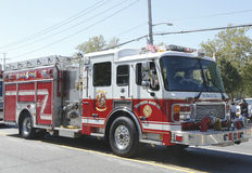 Huntington Manor Fire Department fire truck at the parade in Huntington , New York Stock Image