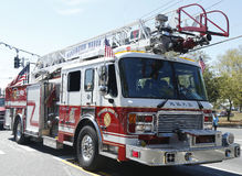 Huntington Manor Fire Department fire truck at the parade in Huntington , New York Royalty Free Stock Photo