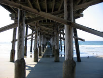 Huntington Pier. Pier at Huntington Beach, California royalty free stock photo